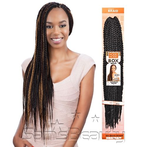 Crochet Hair On White Girl : ... Synthetic Hair Crochet Braids Glance Box Braids Medium - Samsbeauty