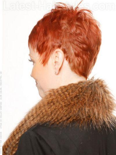 Back view of short haircuts