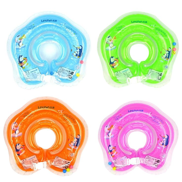 2016 Inflatable Circle Newborn Infant Adjustable Swimming Neck Baby  Swim Ring Float Ring Safety Double Protection MY18
