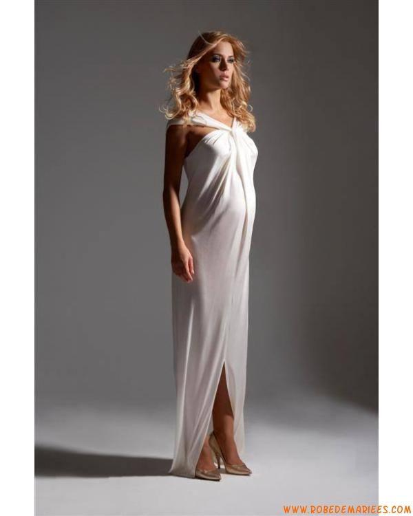 Robe de soiree grossesse blanche