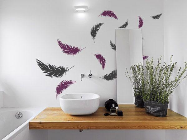 17 best Spiegel Wandtattoos um den Spiegel anbringen images on - wandtattoos für badezimmer