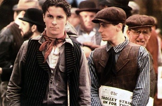 Christian Bale & David Moscow     