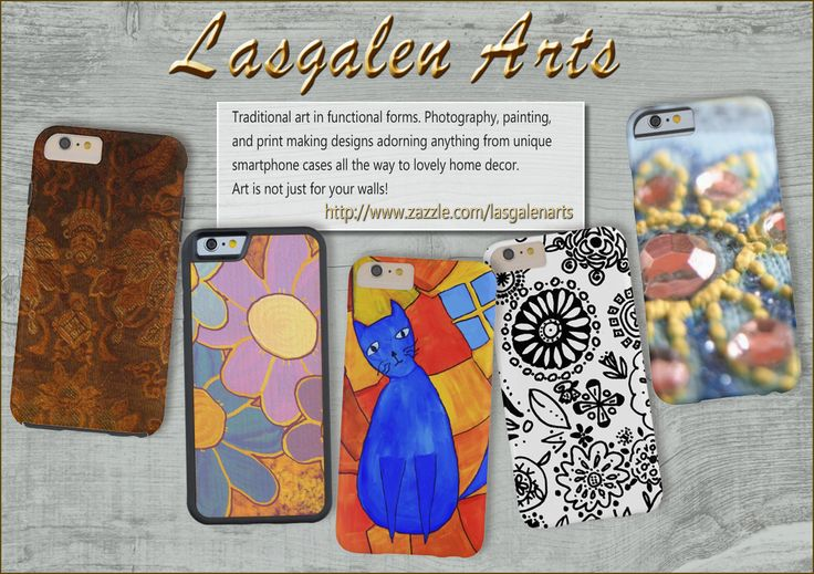 Photography, painting and print making designs on cell phones and home decor.