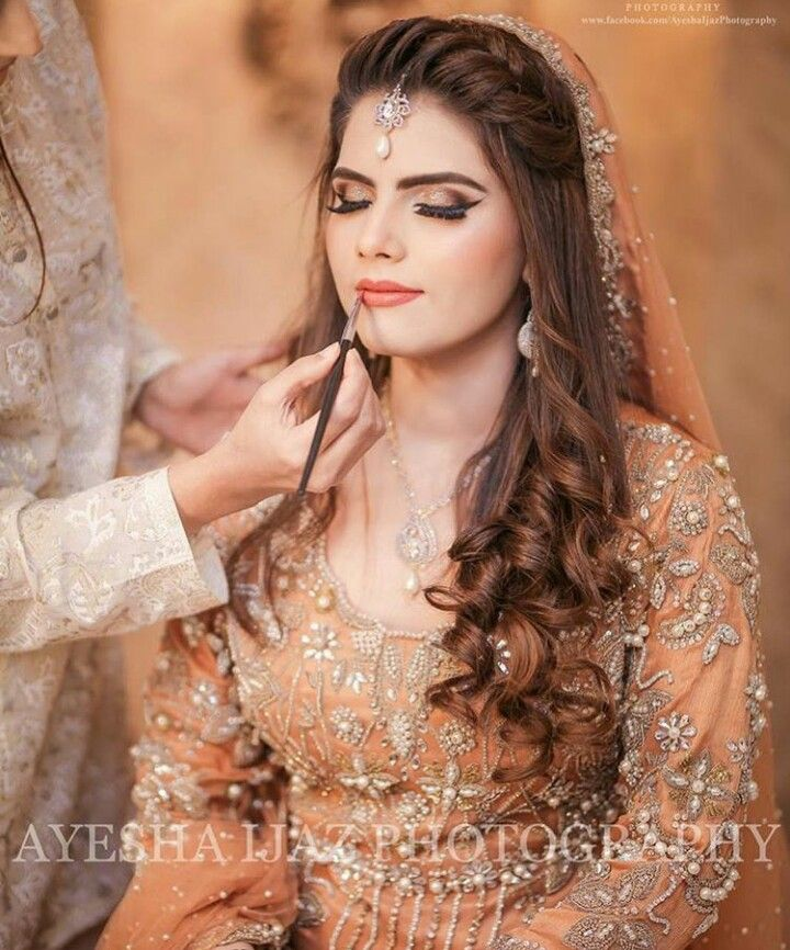 Pin By Marzia Batool On Hair Love Pakistani Bridal Hairstyles Front Hair Styles Hairstyles For Gowns