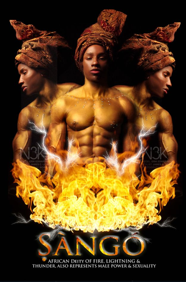 S'ang'o~African Deity of Fire, Lightning and Thunder, also represents male power and sexuality. (I can see why...lol)