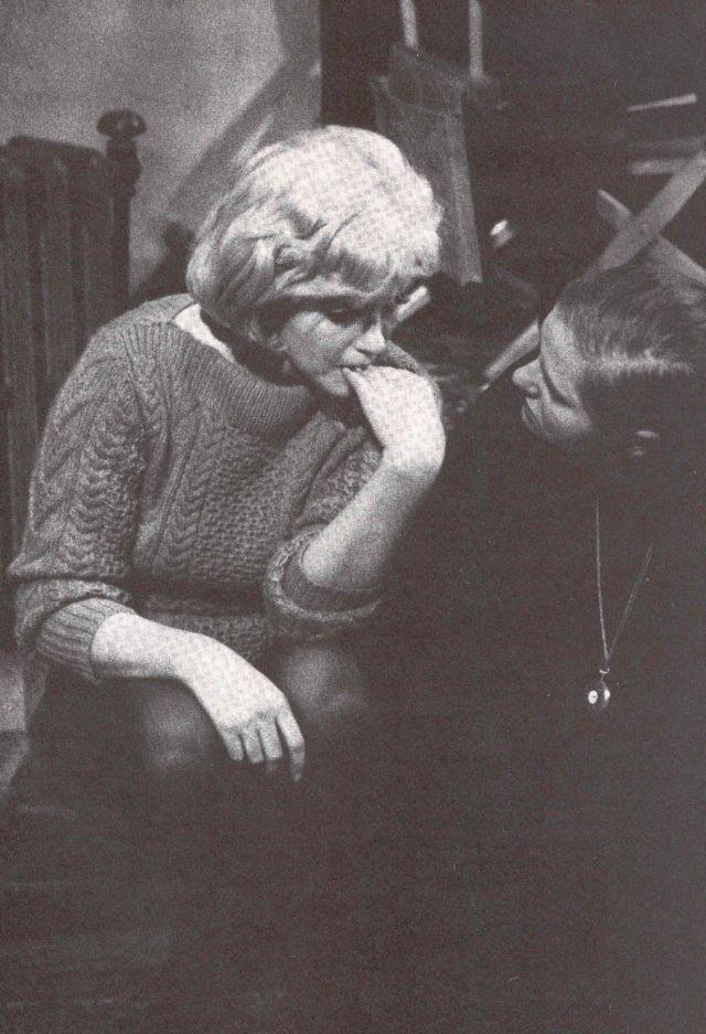 Marilyn Monroe and Paula Strasberg   Marilyn Monroe ...