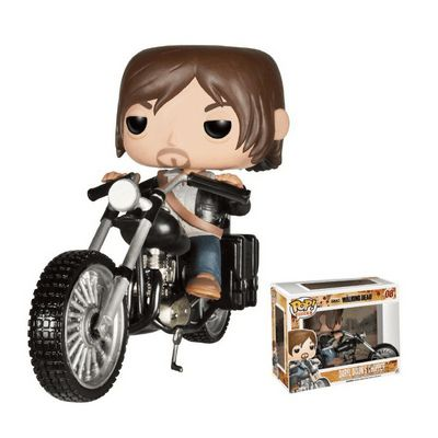 Figurine Pop! The Walking Dead Daryl Dixon et Chopper