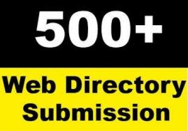 500+ High PR Web Directory Submission