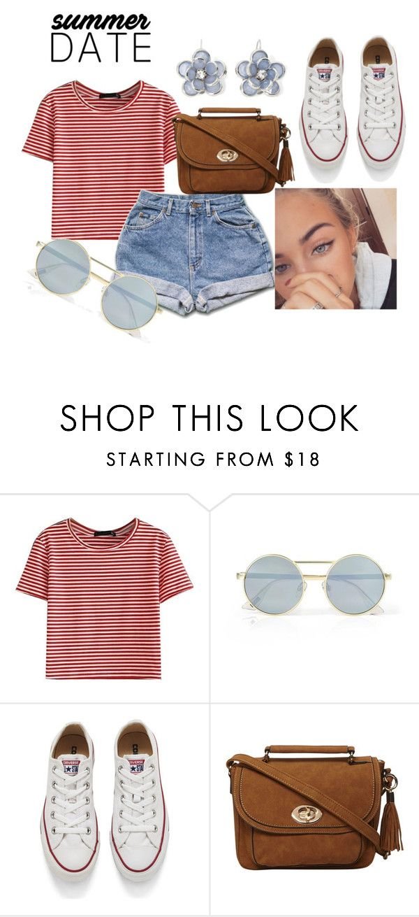 """State Fair"" by blackmagic24101 on Polyvore featuring WithChic, Le Specs, Converse, Dorothy Perkins, Mixit, statefair and summerdate"