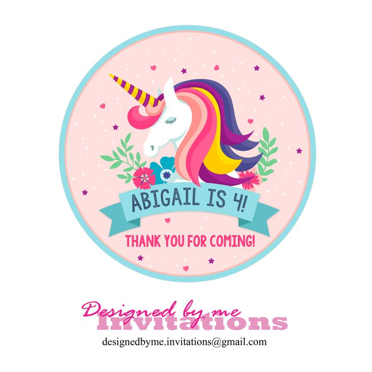 Magical Unicorn Bunting banner and 2 inch cupcake toppers - Personalised banner and Toppers - DIY Printing - JPEG File by DesignedByMeInvites on Etsy