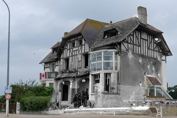 "War History Online: ""House of the Canadians, Juno Beach. Bernieres-sur-Mer. Photo credit: Heiko Probst."