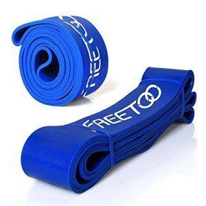 Bande Résistant FREETOO Meilleure Bande Elastique de Résistance d'Entraînement pour Yoga Fitness et Musculation Gyms à la Maison ou En…