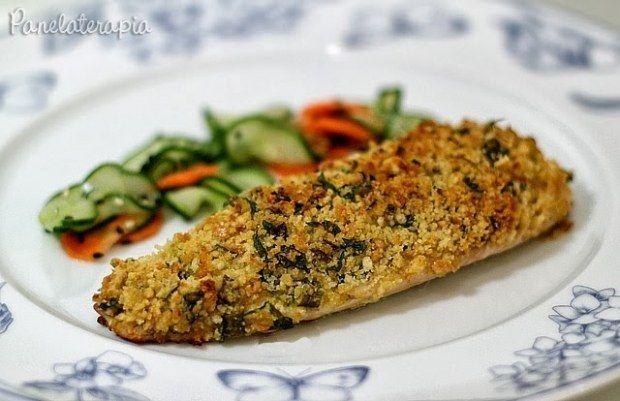 Que tal este peixe com crosta de torrada? | 15 ideias de marmitas saudáveis para pessoas que sofrem de preguiça