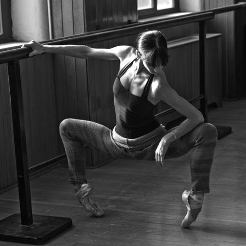 At the barre, strength, balance and technique are put to the test.