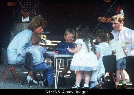 May 26 1989 Diana, Patron, Barnardo's, visits Dr. Barnardo's in Barrow in Furness West Lothian,  Scotland