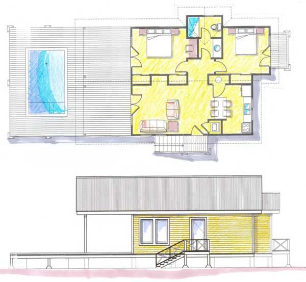 1105 best images about planos de casas peque as on for Planos de casas con piscina