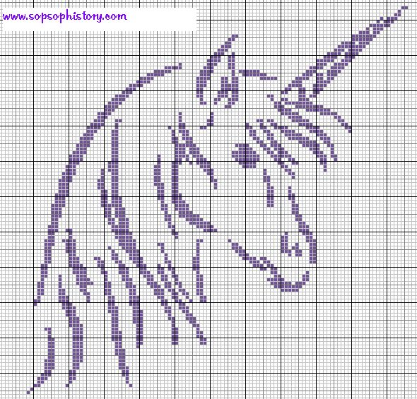 unicorn - Crochet / knit / stitch charts and graphs