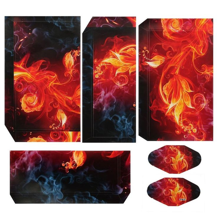 Flame Flower Rose Skin Sticker Cover for PS4 Play Station 4 Console Decal Vinyl  | eBay