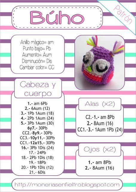 En mi cajita de costura by Tatadelacasa: Buho amigurumi patrón