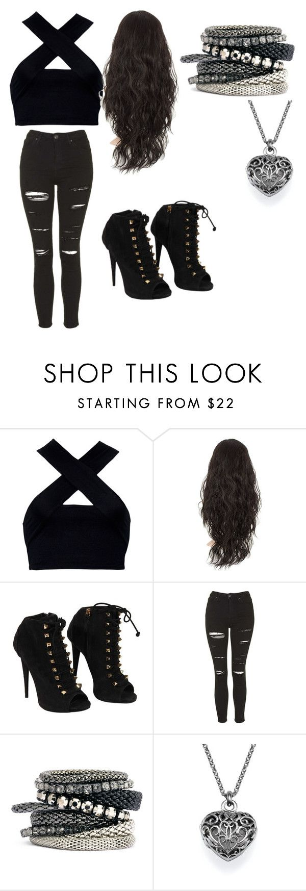 Isabelle Lightwood by epierce-1 on Polyvore featuring Motel, Topshop, Giuseppe Zanotti and H&M