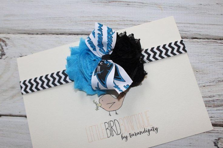 NFL Carolina Panthers Headband by Tarandipity on Etsy https://www.etsy.com/listing/195701767/nfl-carolina-panthers-headband