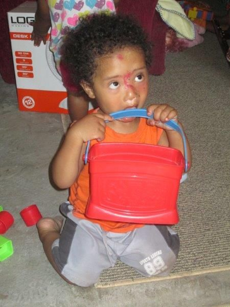 Hmmmm… this bucket doesn't taste all that good.