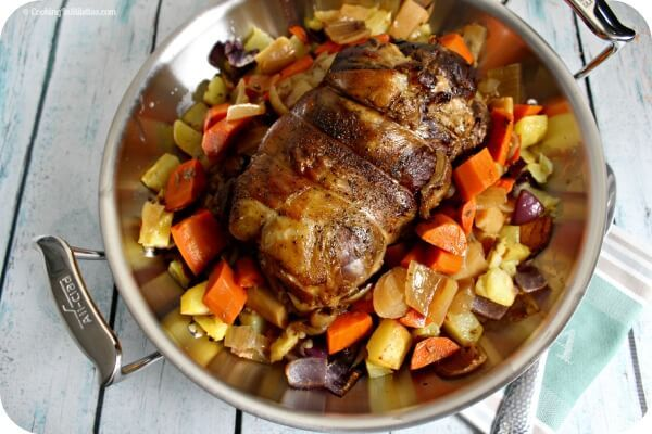 This slow cooked leg of lamb is so easy to prepare - the slow cooker does all of the work, giving you a moist and tender boneless leg of lamb for dinner!