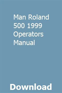 Man Roland 500 1999 Operators Manual   tranopeares   Tractor