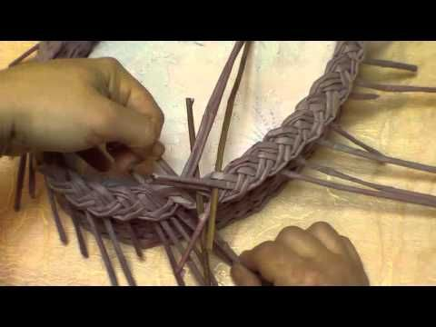 Basketry. Braid-type of edging. Part 10. - YouTube