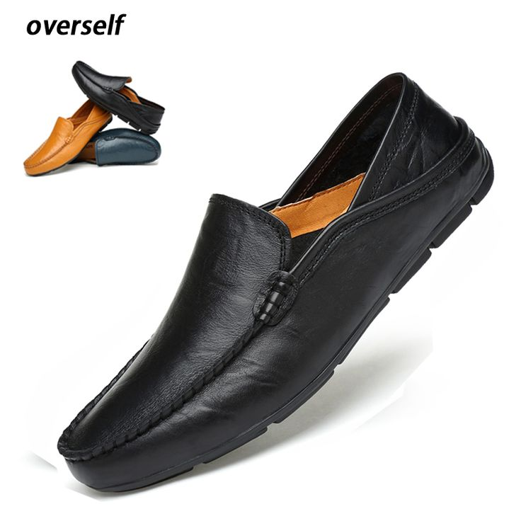 Moccasins Mens Driving Shoes Men Loafers 2018 Genuine Leather Casual Shoes Cow Leather lightweight shoes Plus Big Size to 46 47. Yesterday's price: US $139.00 (113.88 EUR). Today's price: US $44.48 (36.43 EUR). Discount: 68%.