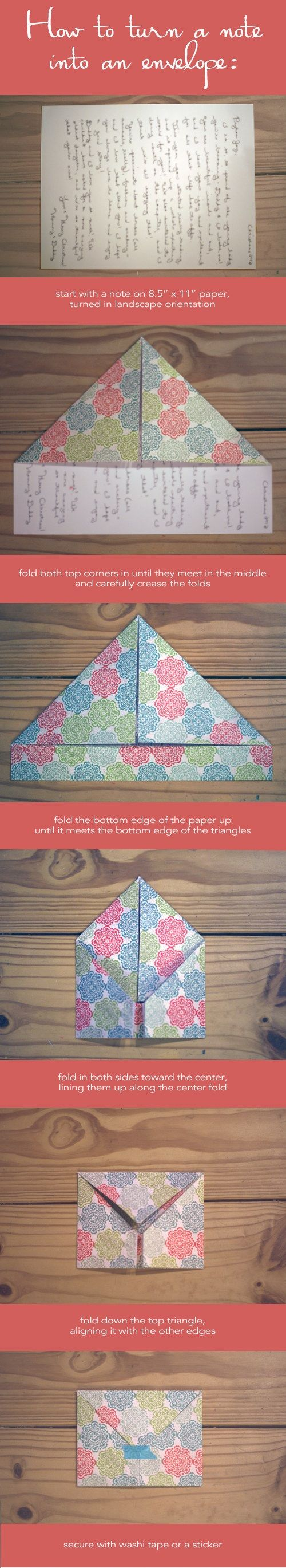 Brief vouwen tot een envelop #DIY