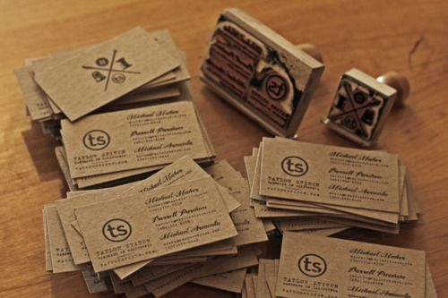 awesome hand stamped business cards