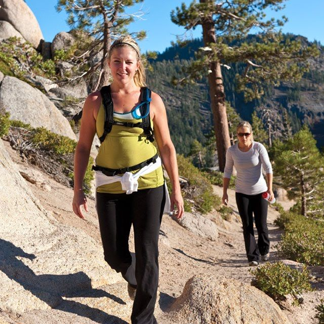 Hikers on the Five Lakes Trail, Tahoe City, Calif., image