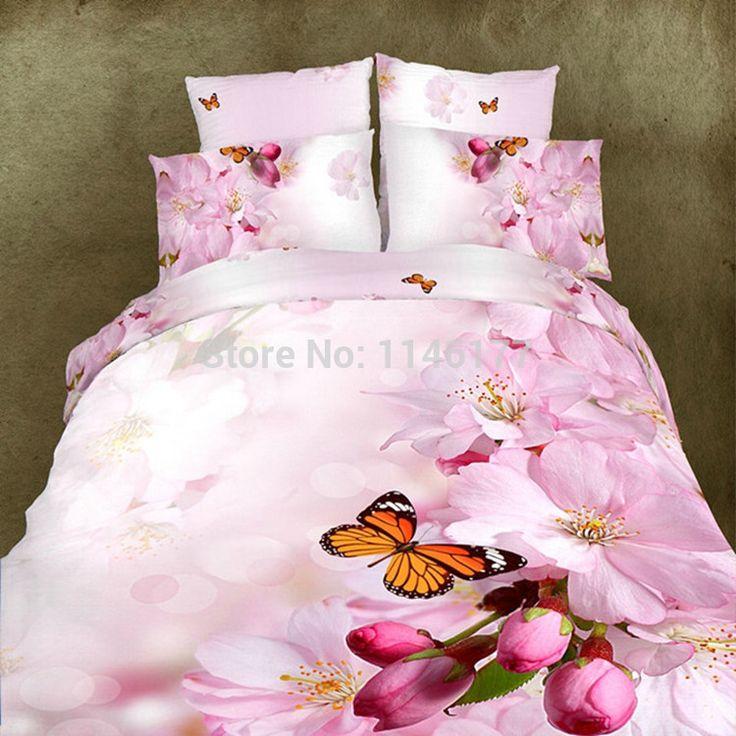 4 pcs bedding sets brushed carton bedding set king size kids duvet cover bed sheet pillows quilt bedclothes no comforter