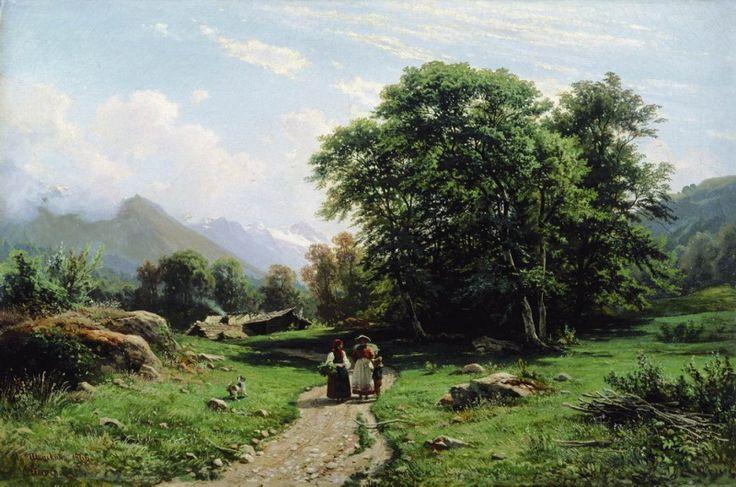 Швейцарский пейзаж 1866 62х93. Иван Иванович Шишкин