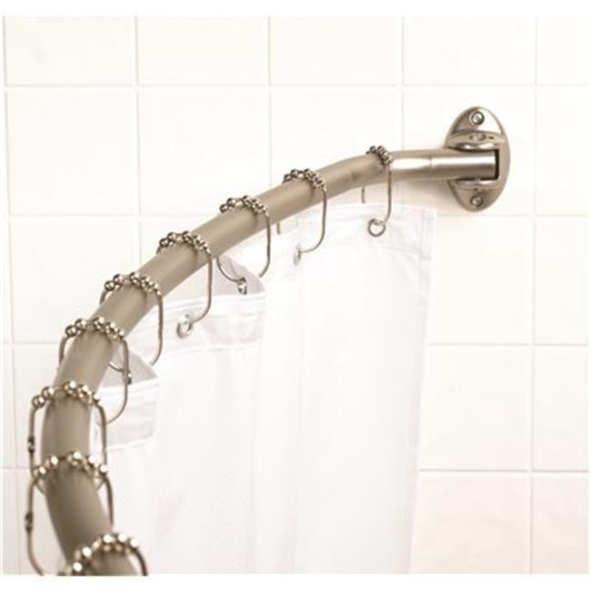 Premier 35607bnil Premier Neverrust Adjustable Curved Shower Rod