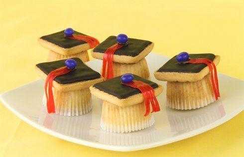 Пирожные «Магистерская шапочка» - кексы на выпускной. Мастер-класс   Домохозяйка