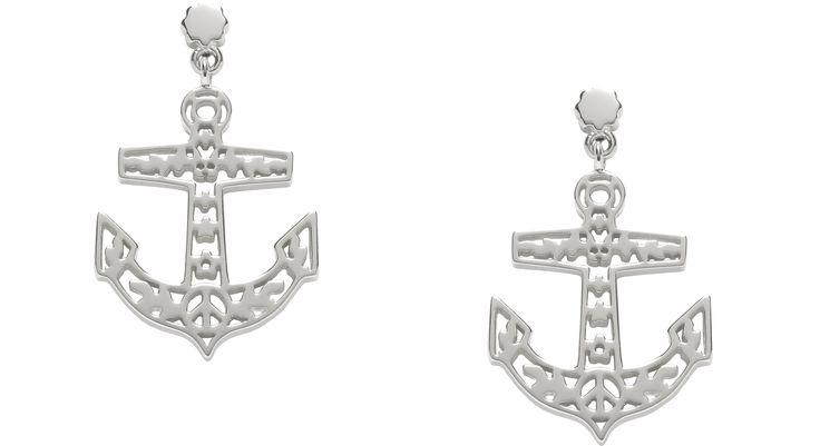 Filigree Anchor Earrings