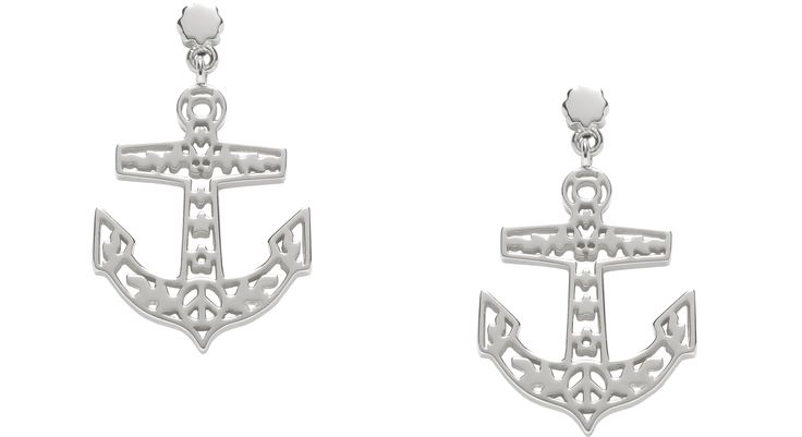 Filigree Anchor Earrings