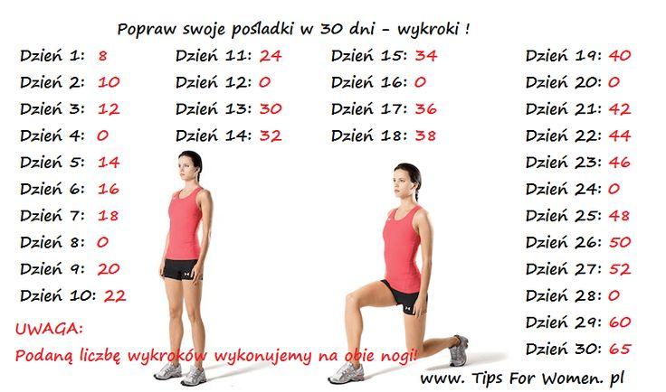 Sportowe miesięczne wyzwania składające się z jednego ćwiczenia, którego daną ilość zwiększa się każdego dnia.