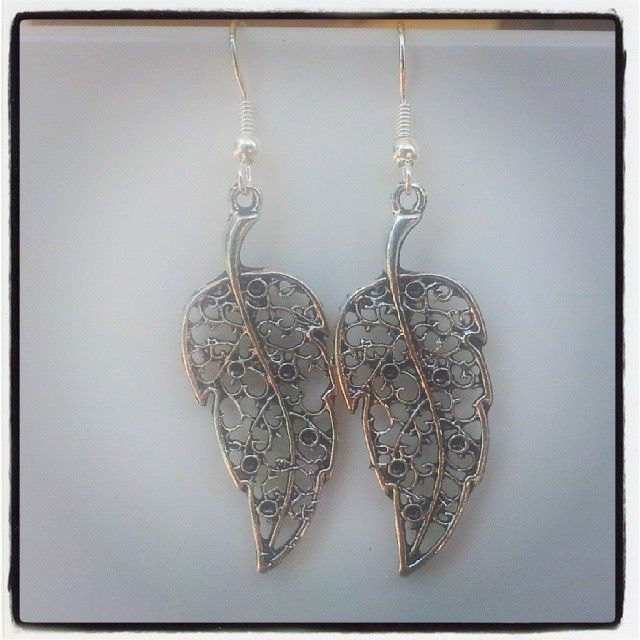 Silver Leaf Earrings $5 Aust. From Rags To Bags on FaceBook.