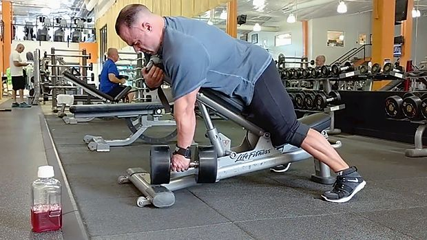 Tip Chest Supported Dumbbell Row Dumbbell Strength Conditioning Supportive