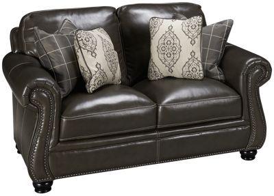 Simon Li-Charleston-Simon Li Charleston Leather Loveseat - Jordan's Furniture