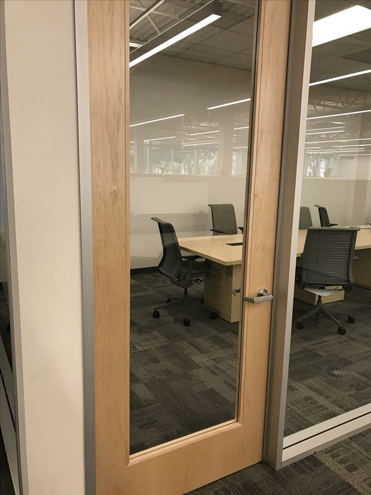 Exec Rank conference room - note that maple doors don't match oak/birch conference table.