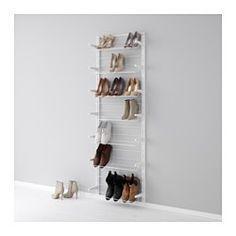 ALGOT Wandschiene/Schuhaufbewahrung, weiß - IKEA