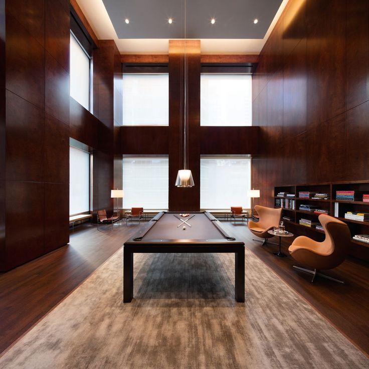 Home Interior Design Billiards Room 432 Park Avenue NYC 1200x1200