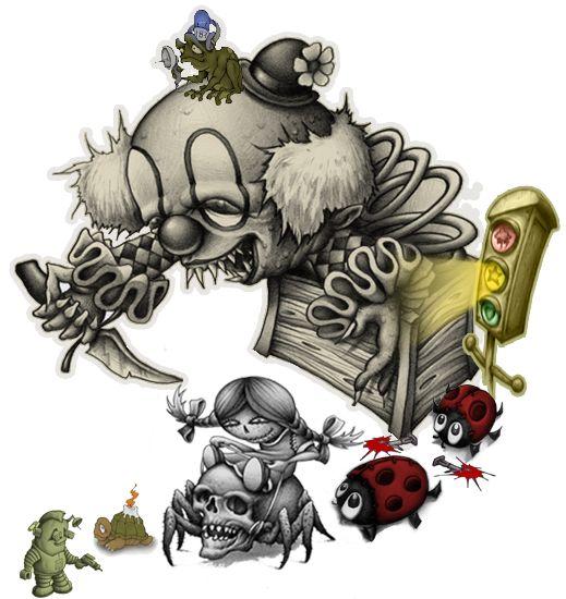 The 25+ Best Evil Clown Tattoos Ideas On Pinterest