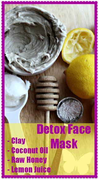 Detox маска за лице2 супени лъжицибентонит1 чаена лъжичкаVirgin кокосово масло1/2 супена лъжица мед; Сок от половин лимон или 1 капкалимон етерично масло
