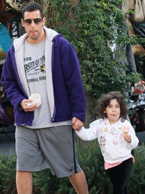 OMG. Adam Sandler and his daughter -- it's like he cloned himself or something. Lol.