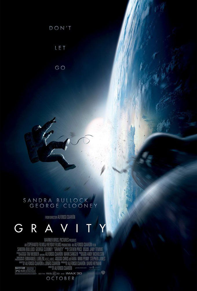 """Gravity""  It was.... Breath-taking. Well, in some scenes. Pretty well done for a single character emphasis, especially using a female character."